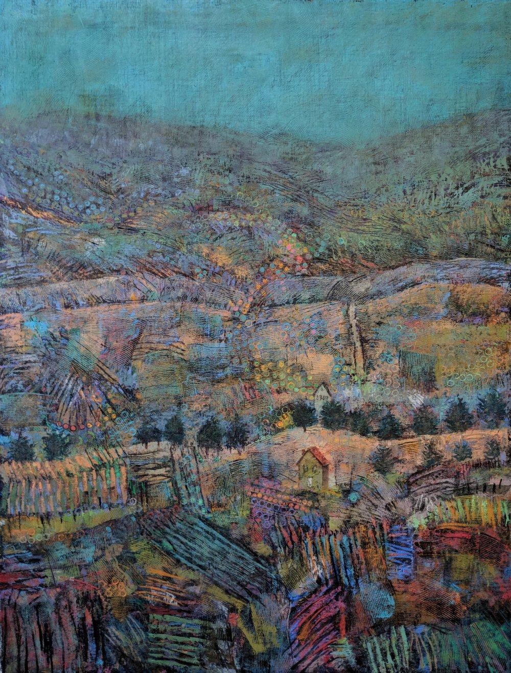 Blue Hills - 40x30