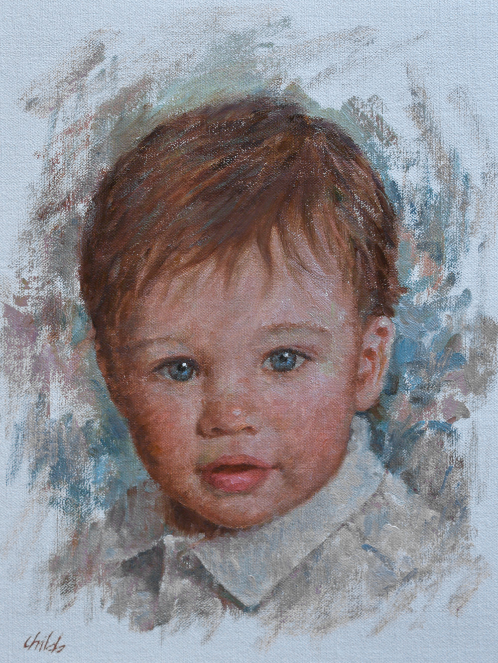 Boy with White Collar - 9x12