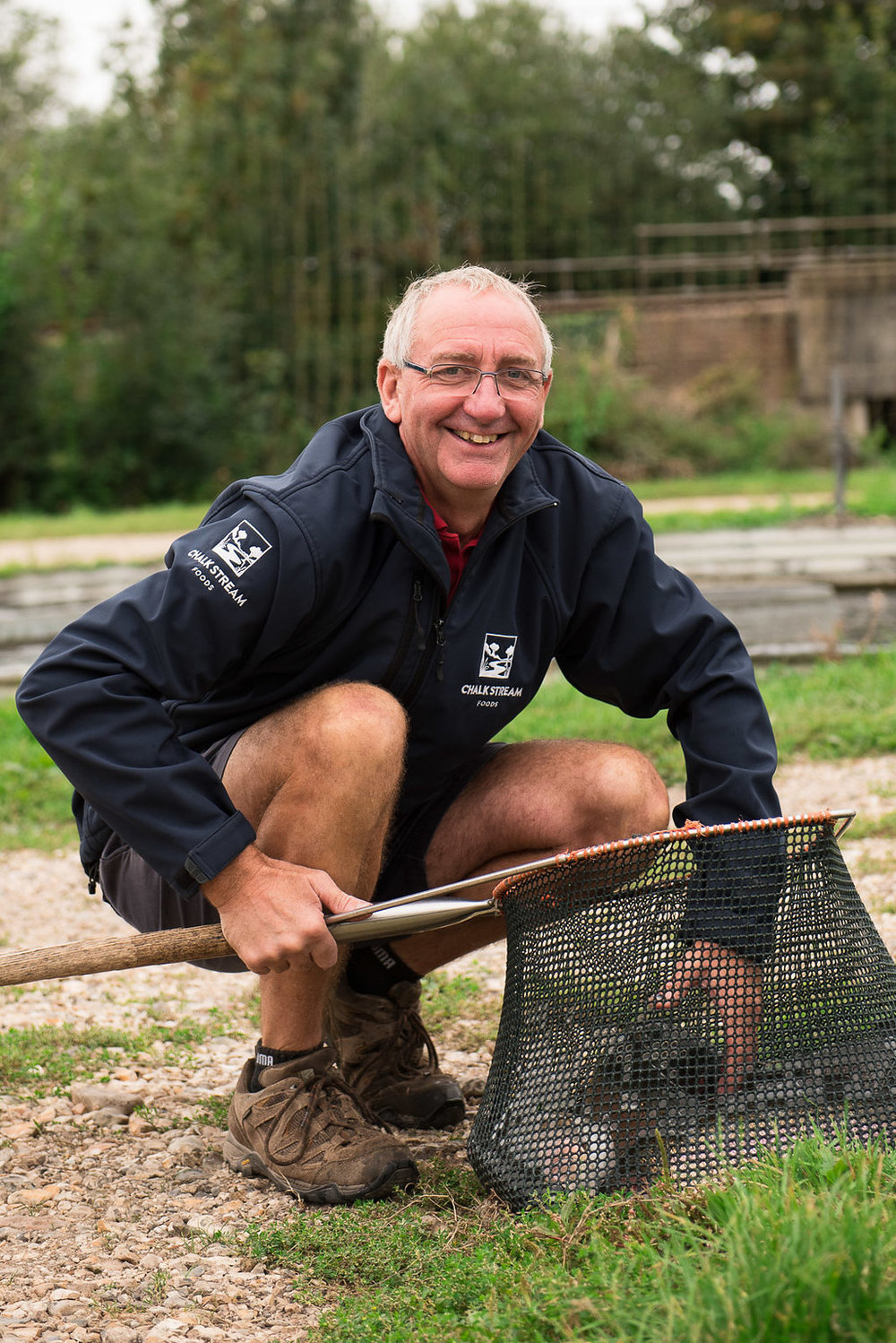 Pete - Manager of our main ChalkSteam® farm at Greatbridge, Romsey for more than 35 years, no-one has more experience in growing trout. Pete's passion and dedication is at the heart of everything we do.