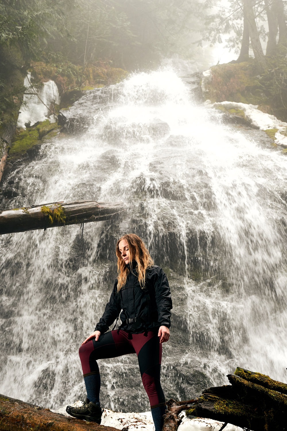 Jessica at the lower falls.