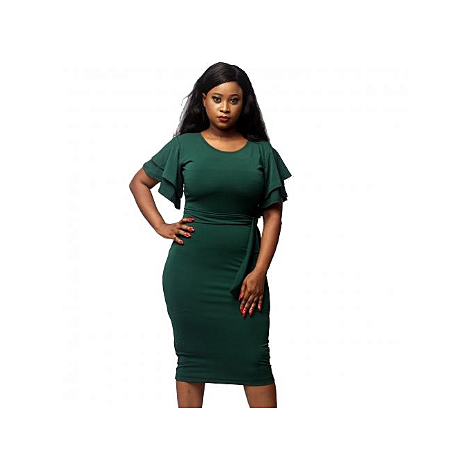 1eafabe447f2c6 Virtue Clothier Anita Double Butterfly Sleeve Dress - Green (45% OFF ...