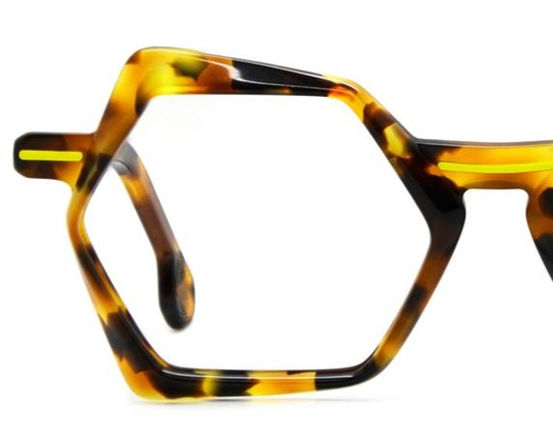 Handmade acetate frames in strikingly contemporary/classic style. Colour:  Tortoiseshell/neon yellow accent Designer: Dzmitry Samal, Paris www.eyemasters.co.uk  #Specs #Spectacles #Frames #Glasses #Eyeware #Fashion #Instafashion #Hastings #Bexhill #Rye  #Battle #tunbridgewells