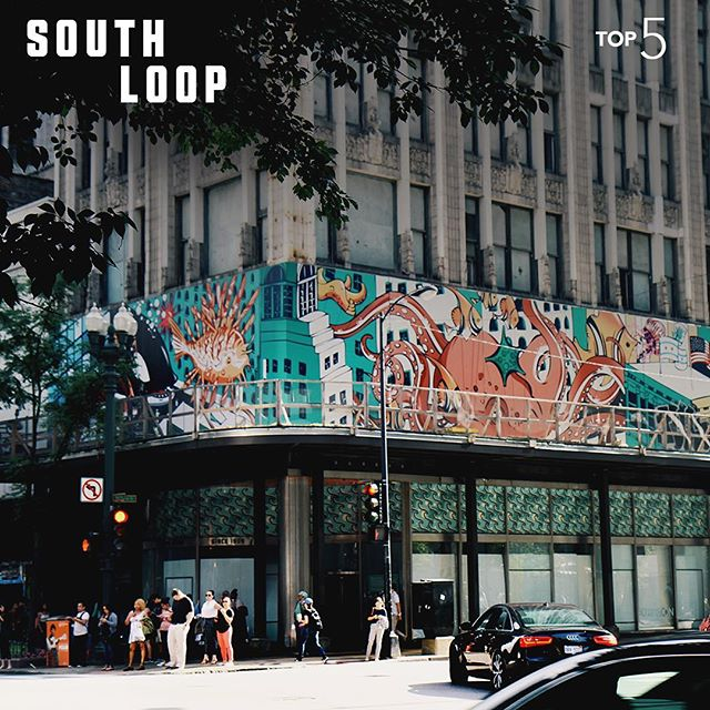Big buildings. Bustling city life. Amazing murals. The South Loop is truly Chicago. #InternTop5