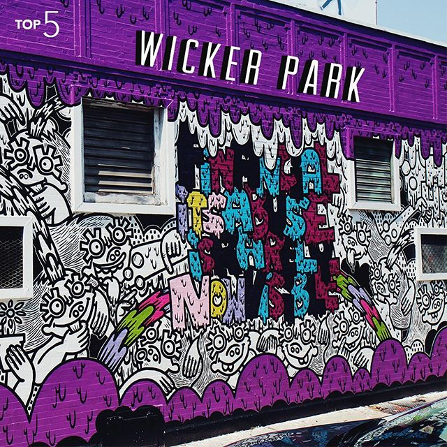 You can't walk through Wicker Park without seeing art. Sure, some of it is pretty famous but we love the neighborhood for the random pieces you find in the alleys and building sides. #InternTop5