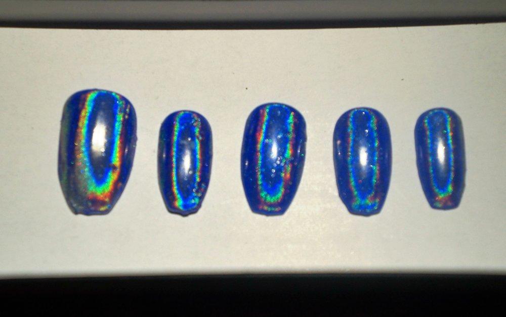 blue chrome love dee nails