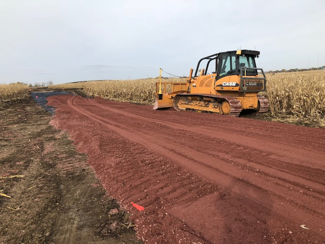 A construction road leading to the new Sioux Falls Lutheran School site (6715 South Boe Lane) was laid by Hoogendoorn Construction in late October.