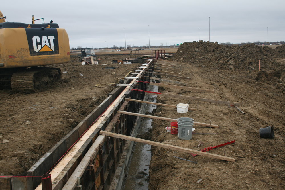 Wall forms are beginning to take shape at the new Sioux Falls Lutheran School site (6715 South Boe Lane).