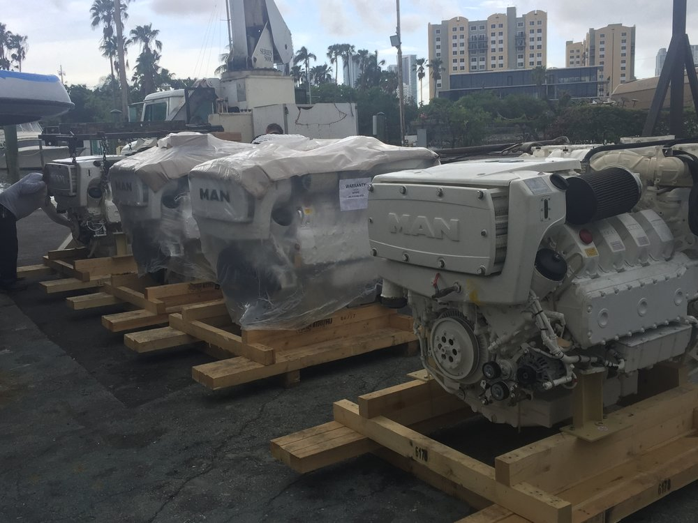 Replacement engines for a 50' Azimut.