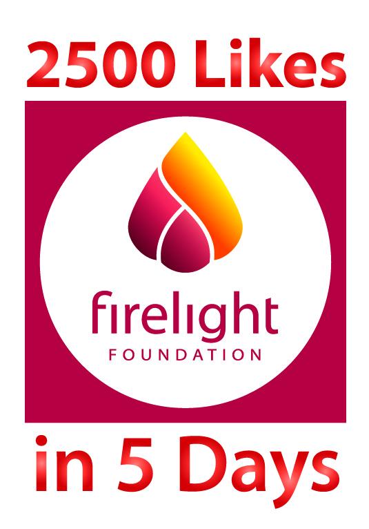 2500 Likes and the Firelight Foundation logo