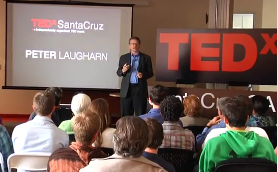 Peter in front of the TEDx audience