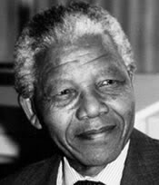 Profile of Nelson Mandela smiling