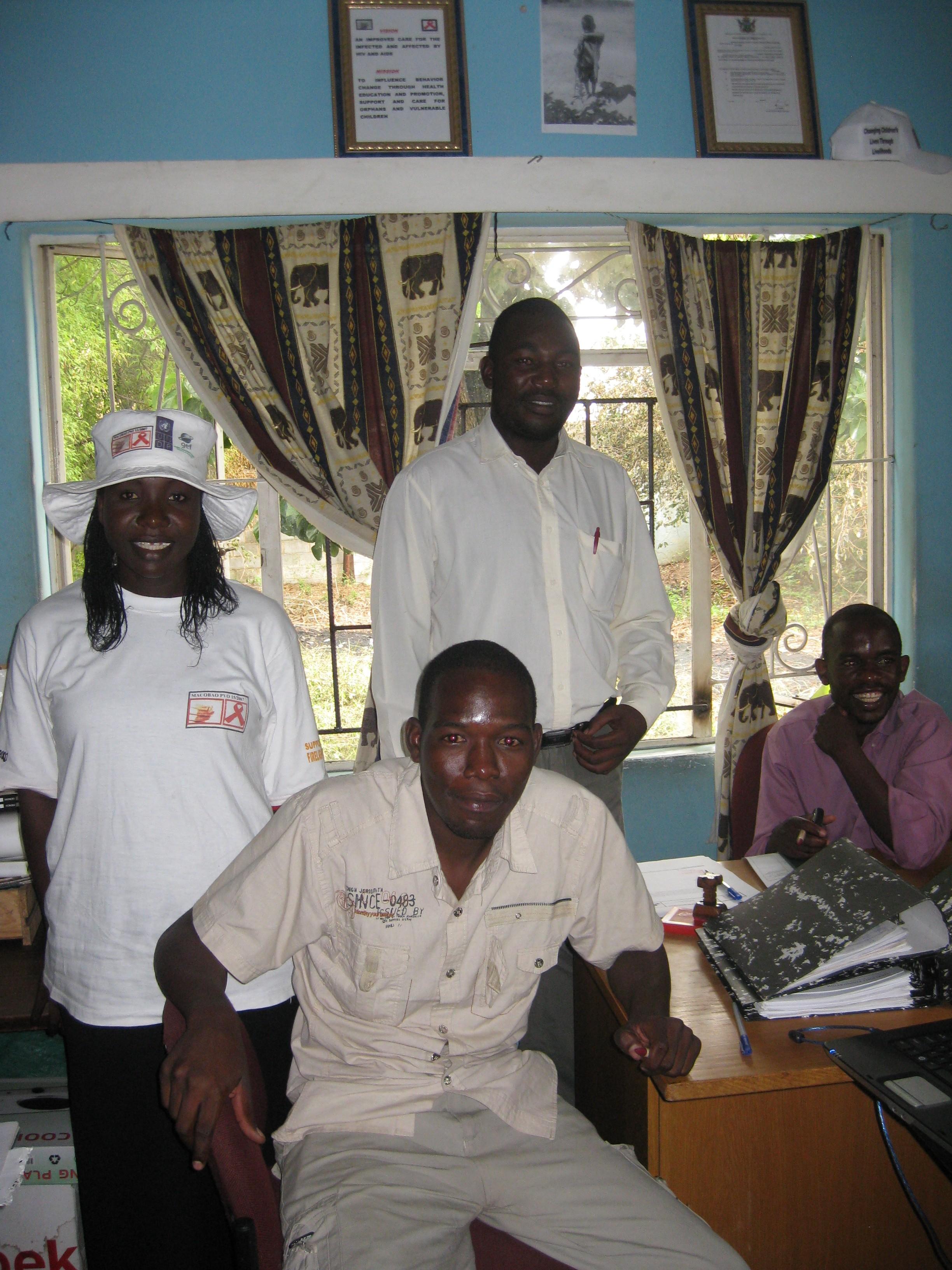 Staff at MACOBAO in Zimbabwe