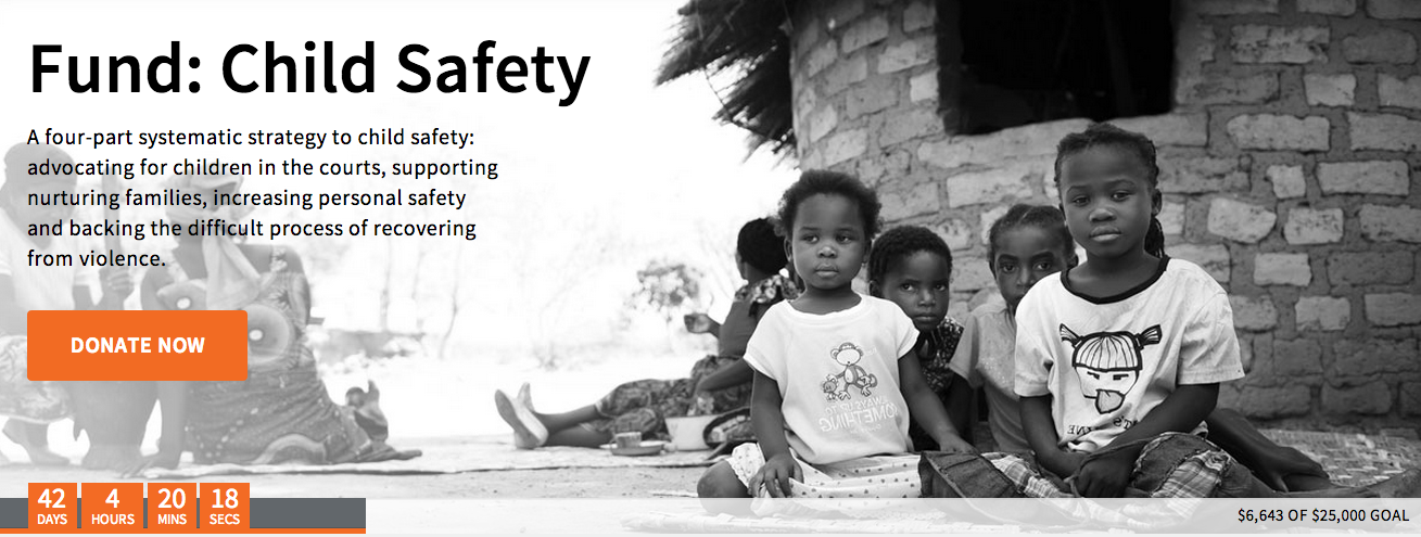 Snapshot of the Fund: Child Safety page on December 20, 2013.