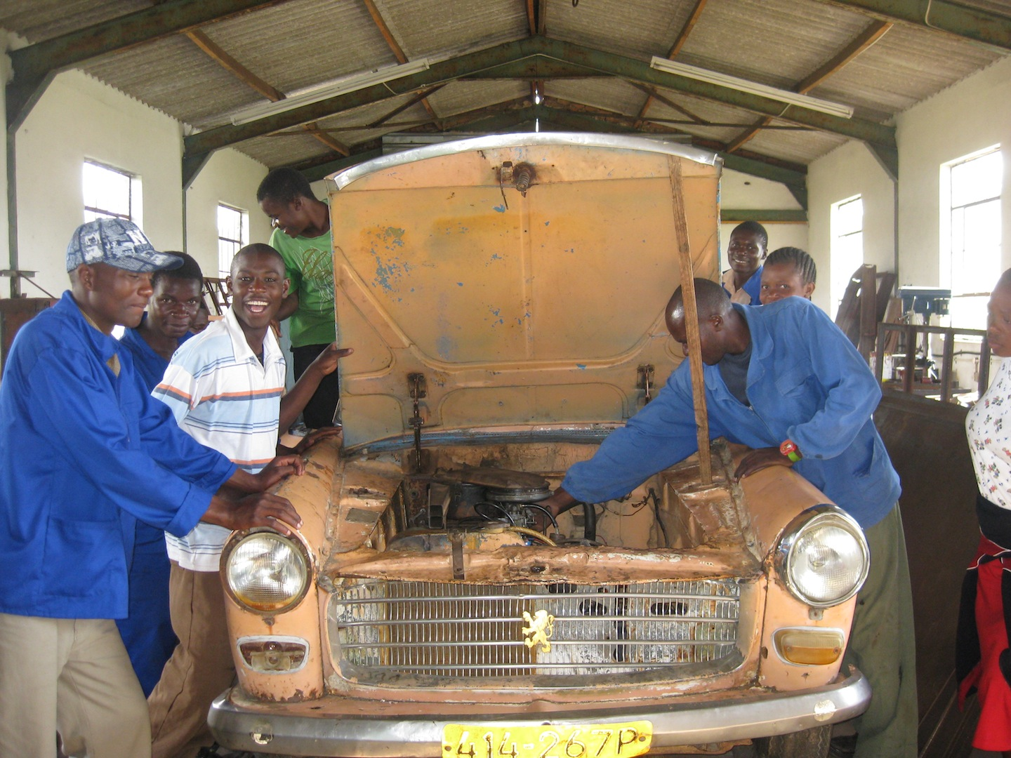 Auto Vocational Students at the Chiedza Community Welfare Trust