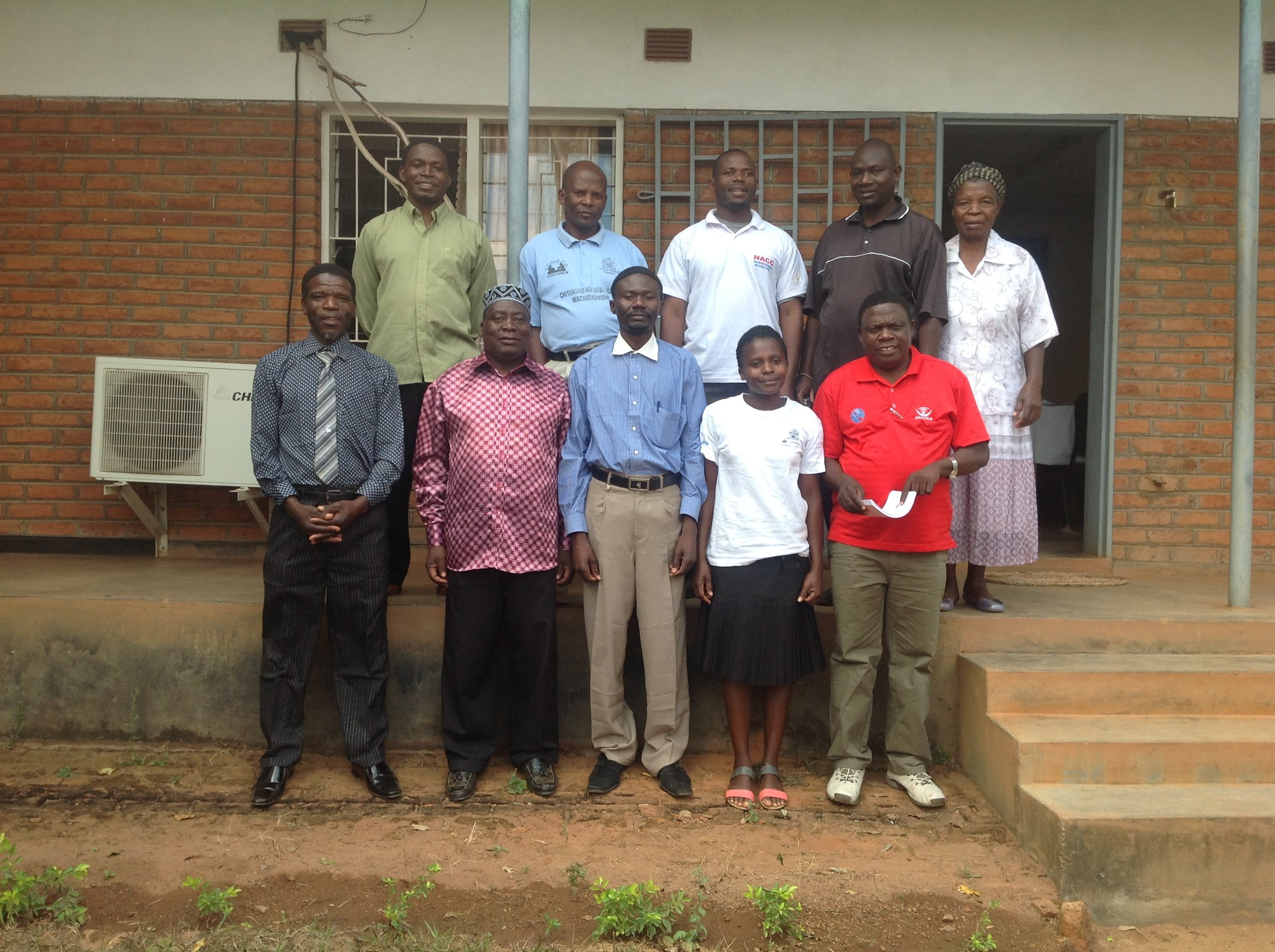 Namwera AIDS Coordinating Committee at a site visit in 2013