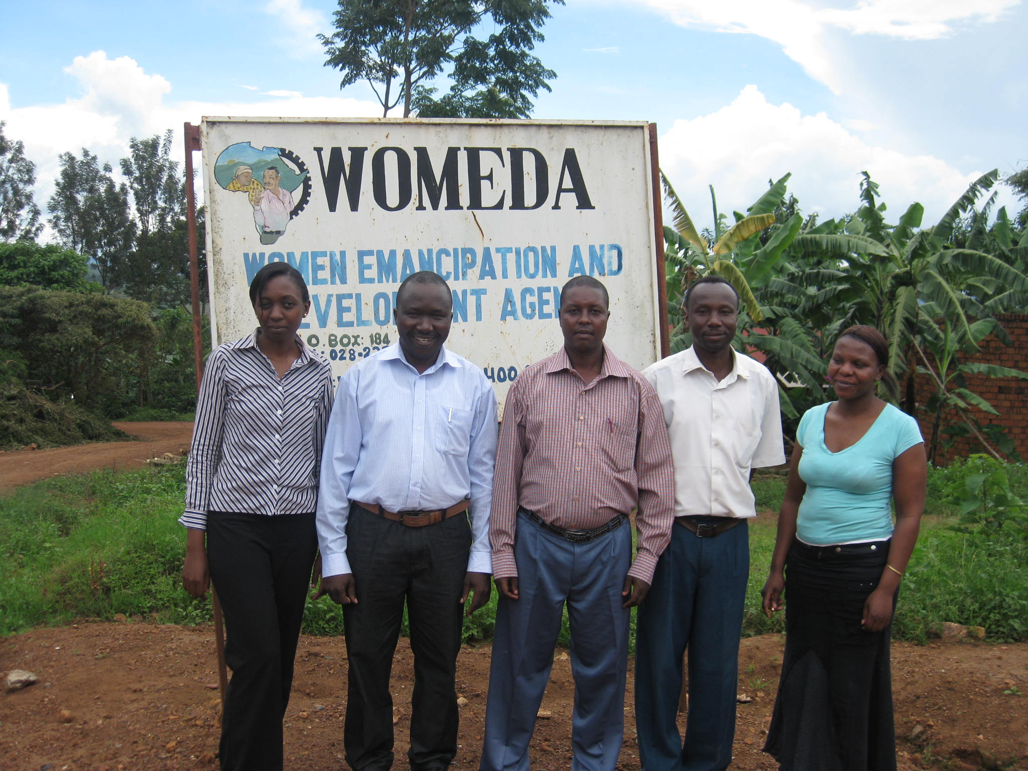 WOMEDA staff at a site visit in 2011