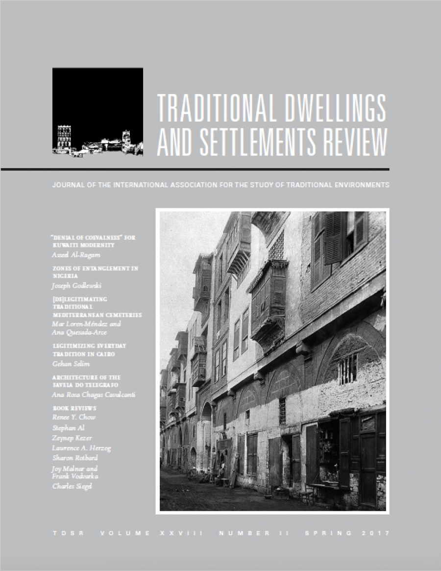 """- 2017 Ana Rosa Chagas Cavalcanti, 'Work, Slums and Informal Settlements Traditions: Architecture of the Favela do Telegrafo'. Traditional Dwellings and Settlements Review (2017) Volume XXVIII, Number 2 (2017): 71-81[journal] Available at: http://iaste.berkeley.edu/wp-content/uploads/2012/09/2017/12/Article-5-28.2-.pdf""""The report aims to adress a range and assumptions and paradoxes surrounding current theories regarding informal settlements. It also reflects on the way architecture and planning of such settlements are being taught and conceived""""""""Work activities create space, shape buildings and influence the decisions of their inhabitants"""""""
