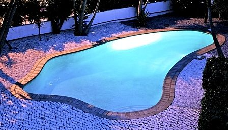 The fab outdoor heated pool!