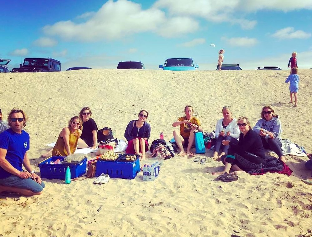 picnic lunch - Following the surf session we will enjoy a healthy picnic lunch on the beach or back to the lodge if the weather is chilly.