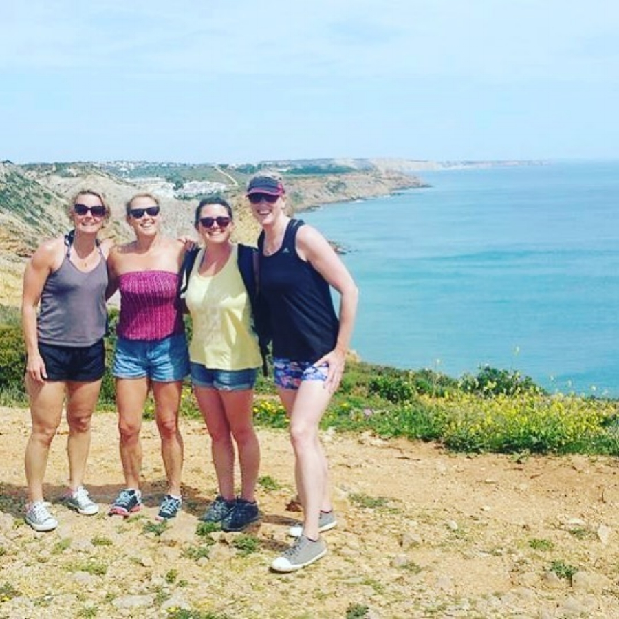 These fantastic guests came as a group of 4 friends to enjoy a week of yoga, surf, stand up paddle, kayaking and hiking in the gorgeous wild western Algarve in Portugal with us…