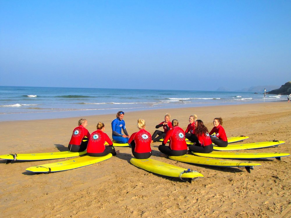 Friendly group surf sessions run with our professional instructors….