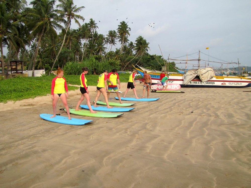 David on one of our Pop Up Retreats in Sri Lanka…