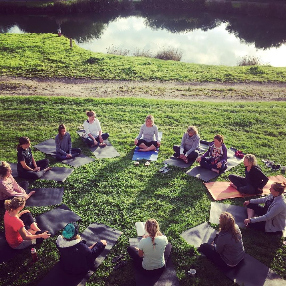 Friendly and relaxed group yoga sessions on our retreats…