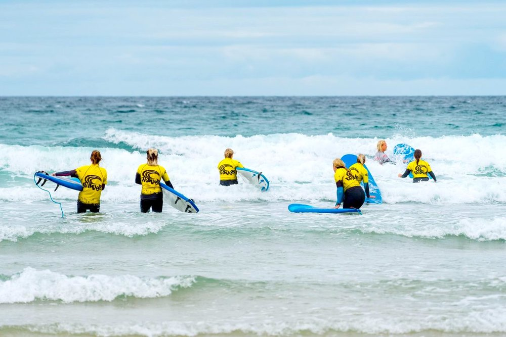 Fun and friendly group surf lessons in Cornwall…