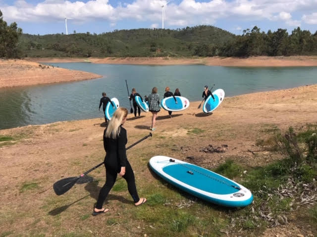 Heading to the beautiful Lake Bravura for an introductory SUP session at the start of our retreat…