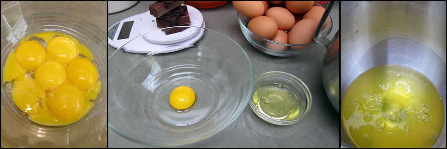 separate eggs white and egg yolks