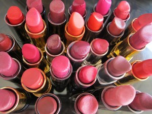 Lots of red lipsticks