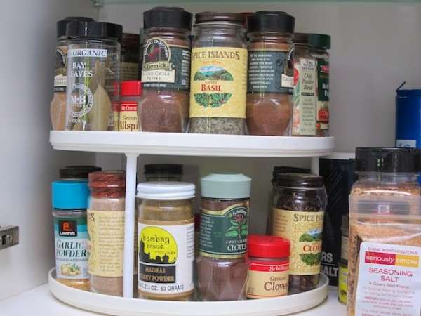 Herbs and spices arranged alphabetically
