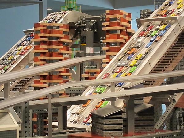 Metropolis II, detail, LACMA