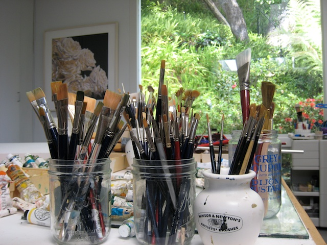 brushes and indow