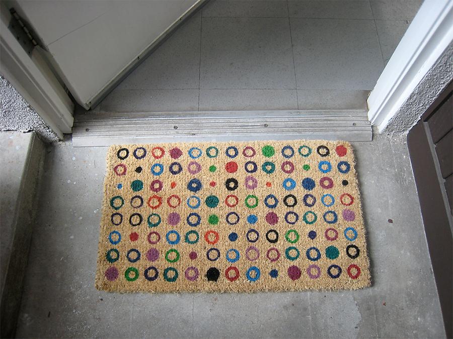 Ikea doormat to studio