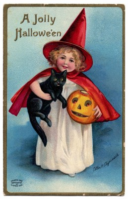 halloween lil witch vintage image graphicsfairy
