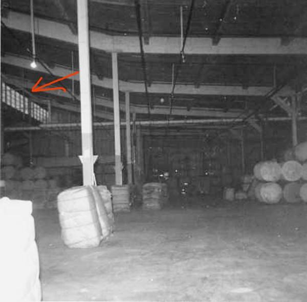 Friedman Bag Company factory floor with chute