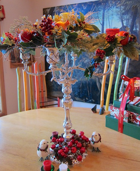 Christmas epergne