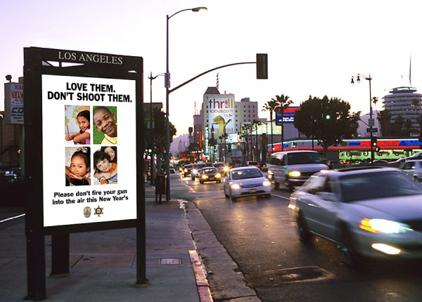 Street ad for LAPD