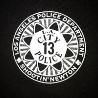 Shootin' Newton Los Angeles Police Department symbol