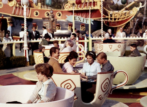 That is Annette Funnicello in a tea cup with me at Disneyland