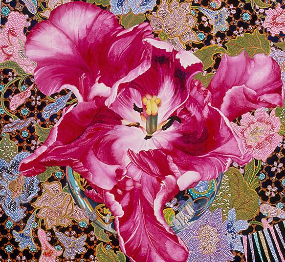 Detail of painting Surabaja by Sandra Sallin@1982