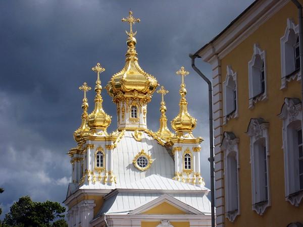 Peterhof golden spires