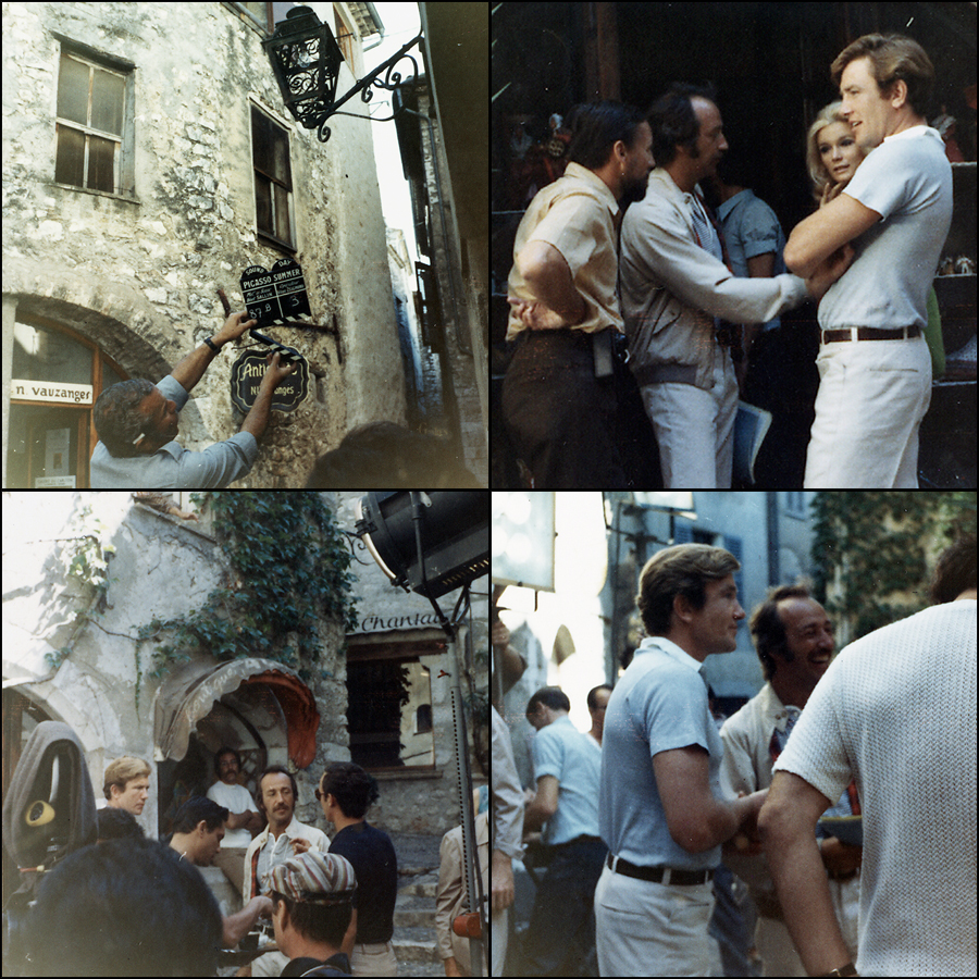 Filming in St. Paul de Vence