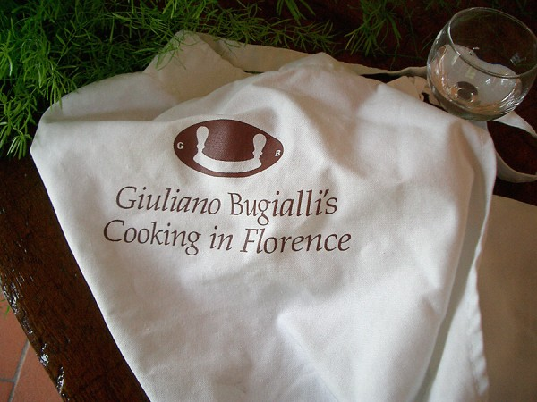 Giuliano Bugialli's Cooking in Florence apron