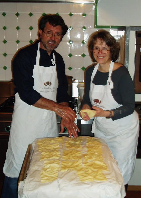Handmade pasta for lasagne