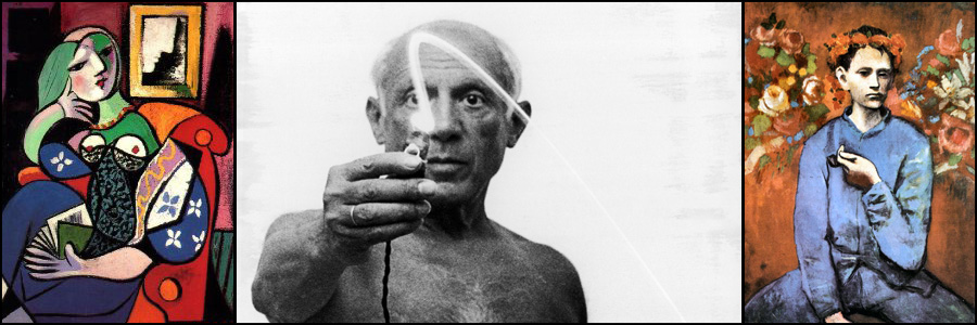 Picasso and two paintings