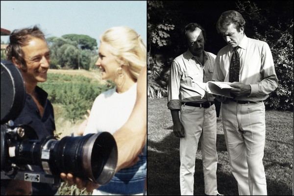 Robert, Yvette and Albert filming in the South of France