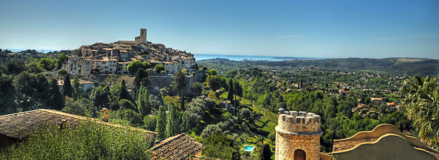 View of St. Paul de Vence in the south of France