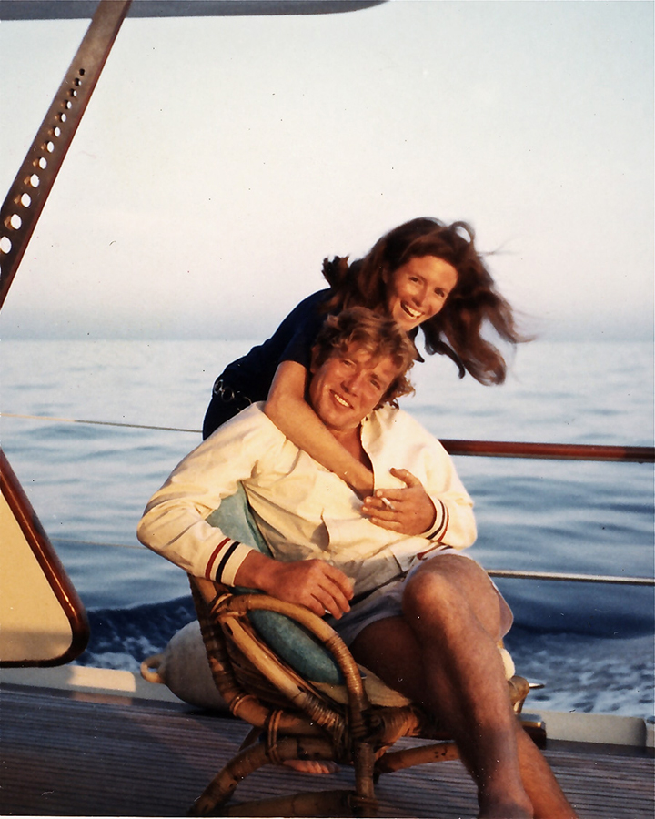 Albert Finney and Sandy on yacht going to St. Tropez